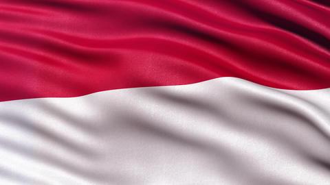 4K Indonesia flag seamless loop Ultra-HD Animation