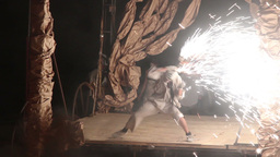 performance of fire show Live Action