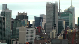 USA New York City 385 Arriving Manhattan Theater District At Early Daybreak stock footage