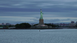 USA New York City 373 statue of liberty in a fantastic early morning mood Footage