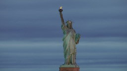 USA New York City 375 statue of liberty in a fantastic early morning mood Footage