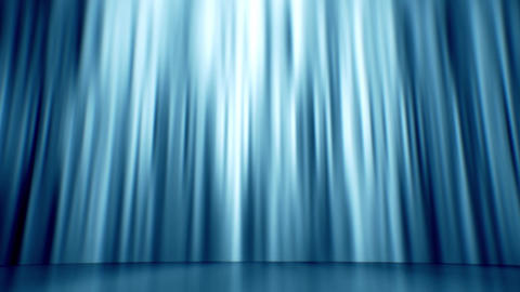 Blue Curtain Background Loop Animation