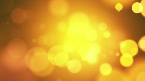Yellow Abstract Lights Bokeh Background Loop CG動画素材