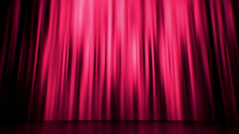 Red Curtain Background Loop, Stock Animation