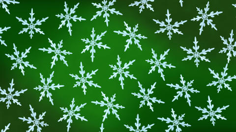 snowflakes background rotation green Animation