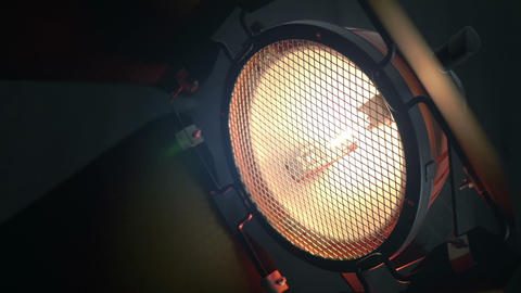 Cinema light equipment on/off Stock Video Footage