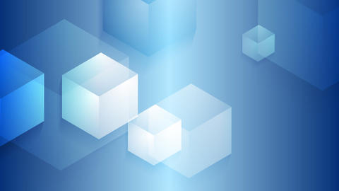 Bright blue moving cube shapes loopable video animation Animation