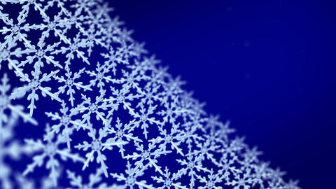 snowflakes array tracking background blue Animation