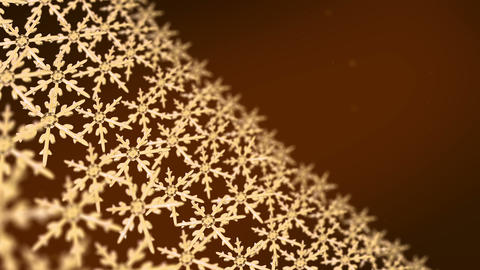 snowflakes array tracking background gold Animation
