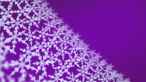 snowflakes array tracking background purple Animation