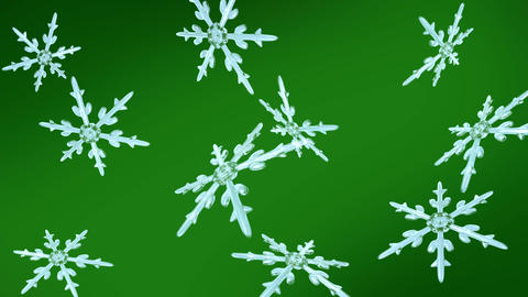snowflakes christmas background green Animation