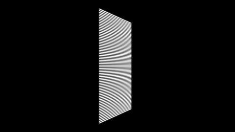 Science fiction design element rotating grid plane HUD Animation