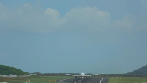 Airplanes taking off from Phuket Footage