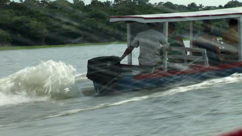 Brazil: travel on Amazon river 9 Stock Video Footage