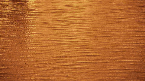 Water surface,Dusk,sunset,sunrise,golden Stock Video Footage