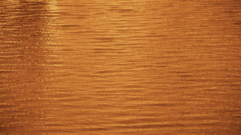 Water surface,Dusk,sunset,sunrise,golden Stock Video Footage
