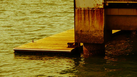 Pier,Terminals and water surface,boardwalk,Dam,floating,rust Footage