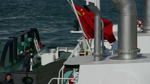 Crew member worker,Vessel Parking on water at Pier of... Stock Video Footage