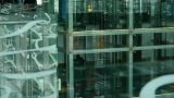 Elevator in Luxury mall glass house,hall,Tower,overlooking,fashion,wealth,shadow Footage