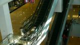 elevator in the shopping malls scene,modern city environment Footage