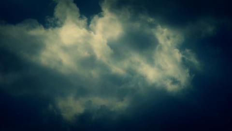 Spectacular clouds cover sky,Altocumulus,dusk,sandstorm Footage
