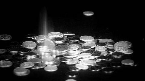 Coin Fall,group of RMB coins Stock Video Footage