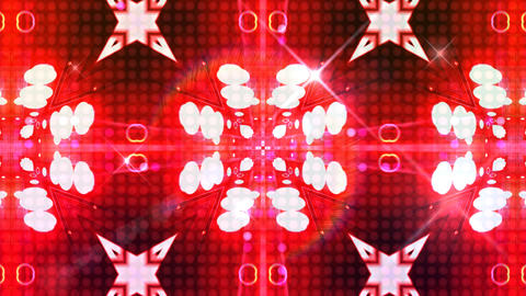 LED Light Kaleidoscope ST C2F HD Stock Video Footage