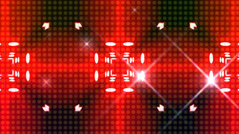 LED Light Kaleidoscope ST C2F HD Stock Video Footage