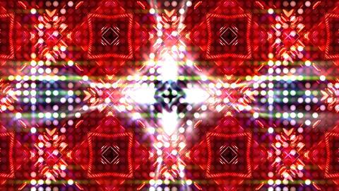 LED Light Kaleidoscope ST C4 HD Stock Video Footage