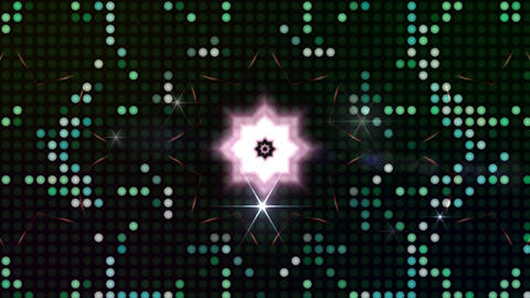 LED Light Kaleidoscope ST C4sF HD Stock Video Footage