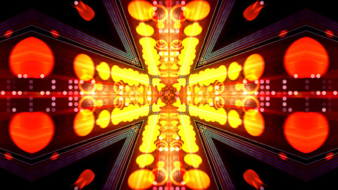 LED Light Kaleidoscope ST D2 HD Stock Video Footage
