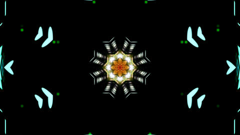 LED Light Kaleidoscope ST D4s HD Stock Video Footage