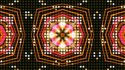 LED Light Kaleidoscope ST A1 HD Stock Video Footage