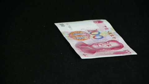 Counting money RMB Stock Video Footage