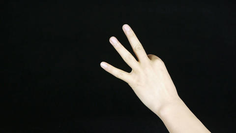 Count from one to five,hand sign Stock Video Footage