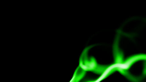 green smoke and flying silk Stock Video Footage