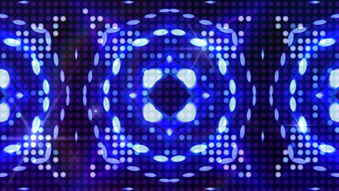 LED Light Kaleidoscope ST B1F HD Stock Video Footage