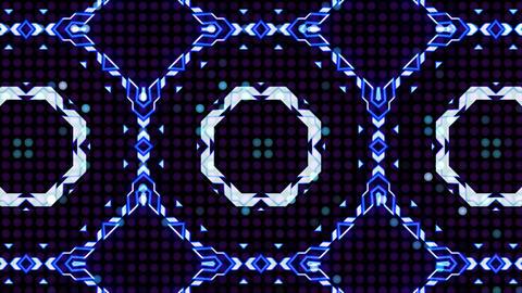 LED Light Kaleidoscope ST B3 HD Stock Video Footage