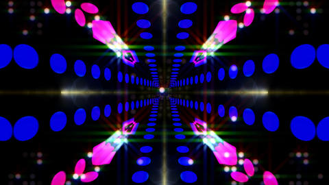 LED Light Kaleidoscope ST E2 HD Stock Video Footage