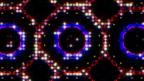 LED Light Kaleidoscope ST E3 HD Stock Video Footage