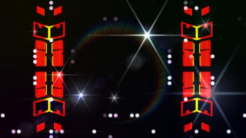 LED Light Kaleidoscope ST E3sF HD Stock Video Footage