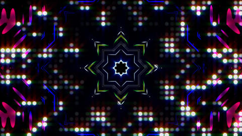 LED Light Kaleidoscope ST E4s HD Animation