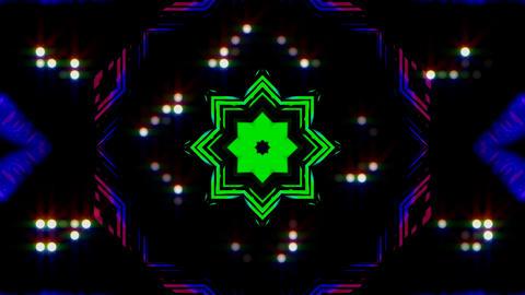 LED Light Kaleidoscope ST E4s HD Stock Video Footage