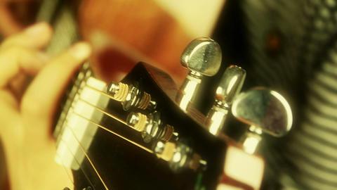 playing guitar,strum,golden sunlight Footage