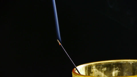 Smoke-filled burning incense in space,Soot Stock Video Footage