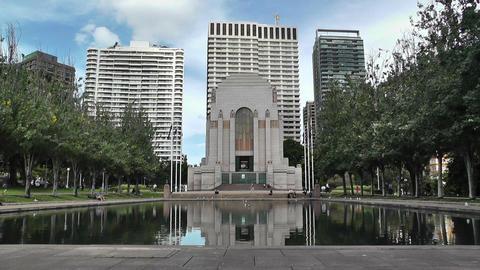 Anzac Memorial in Hyde Park Sydney 02 Stock Video Footage