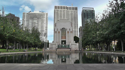 Anzac Memorial in Hyde Park Sydney 02 Footage