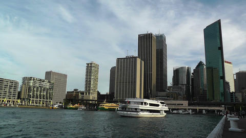Circular Quay Port in Sydney 02 Stock Video Footage