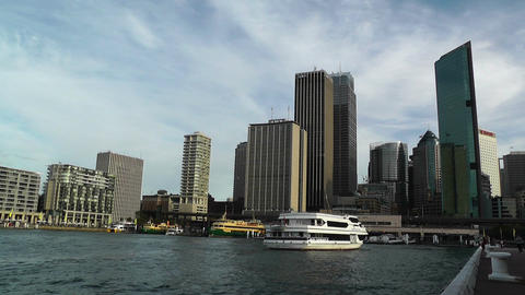 Circular Quay Port in Sydney 02 Footage