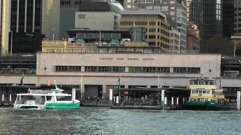 Circular Quay Port in Sydney 04 Footage